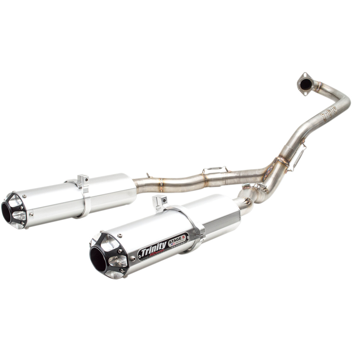 Trinity Racing Dual Exhaust System Brushed